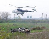 The military helicopter has been shot down by pro-Russian rebels near Sloviansk, killing 14 people