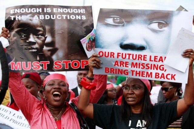 There is mounting domestic and international anger at the Nigerian government's failure to find the girls