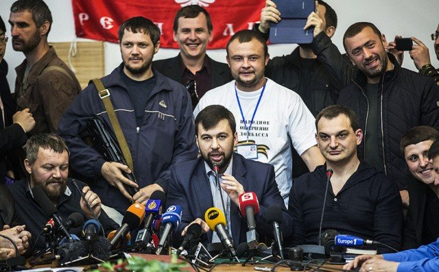 Ukrainian separatist leader Denis Pushilin has called on Russia to absorb the eastern region of Donetsk