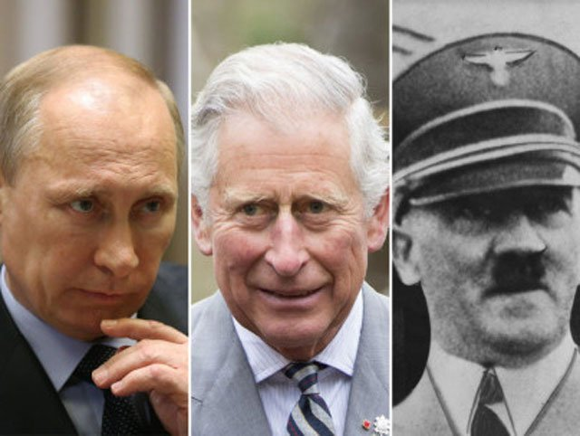Vladimir Putin has described Prince Charles' alleged comparison of him with Adolf Hitler as unacceptable