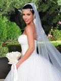 With her wedding date less than three weeks away, Kim Kardashian revealed that she has selected the gown