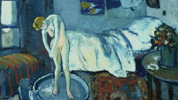 A hidden portrait has been found by scientists beneath Picasso's painting The Blue Room