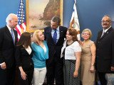 Amanda Berry and Gina DeJesus met with President Barack Obama and Vice-President Joe Biden at the White House