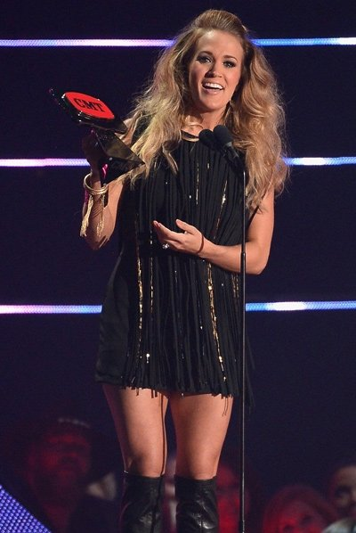 Carrie Underwood has won the top prize at this year's CMT Music Awards