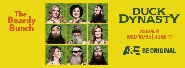 Duck Dynasty Season 6 premieres Wednesday, June 11, 10/9 C on A&E TV