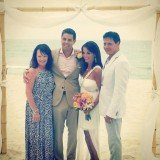 Hollie Strano married her fiancé Alex Giangreco in a beach ceremony on J