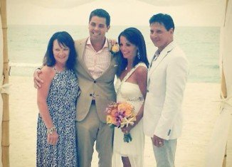 Hollie Strano married her fiancé Alex Giangreco in a beach ceremony on June 15