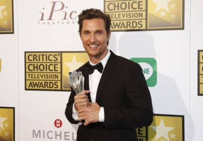 Matthew McConaughey has won best actor award at this year's Critics' Choice Television Awards for his performance in HBO's True Detective