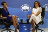 Michelle Obama was asked if she might enter politics after President Barack Obama leaves office