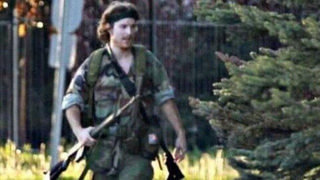 Moncton police said they were searching for Justin Bourque who is armed and dangerous