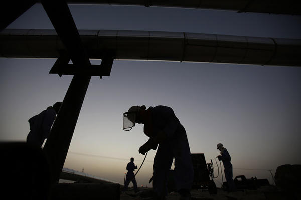 Oil prices have reached a nine-month high amid concerns that developments in Iraq may affect global supplies