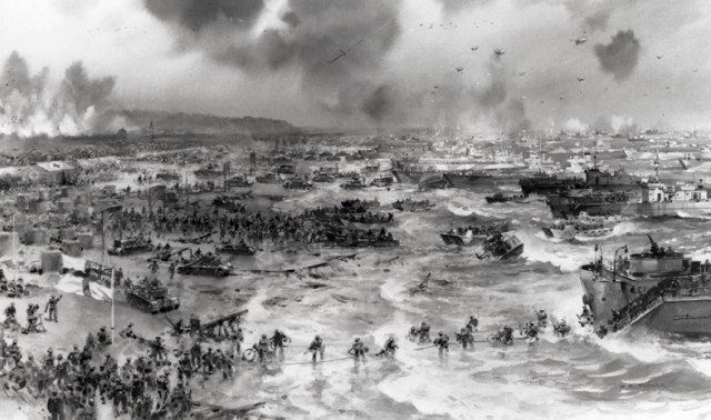 On June 6, 1944, US, British and Canadian forces invaded the coast of northern France in Normandy