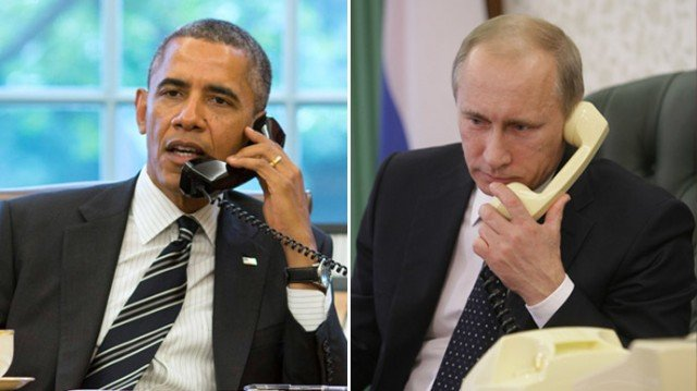 President Barack Obama has urged Russian President Vladimir Putin to stop the flow of weapons into Ukraine and halt support for separatists