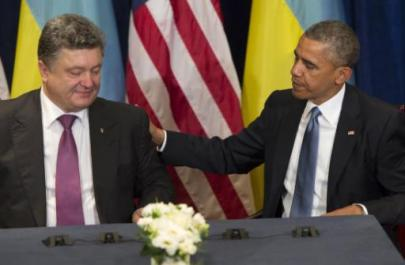 President Barack Obama met Ukraine President-elect Petro Poroshenko, and pledged support for plans to restore peace to the country