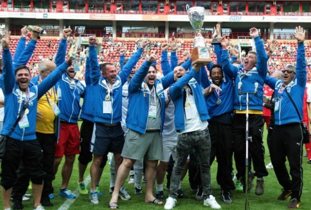 Romania has won this year's Art-football championship held in Moscow after defeating the Israeli team on penalties