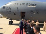 Secretary of State John Kerry has arrived in the northern Iraqi city of Erbil to hold talks with Kurdish leaders