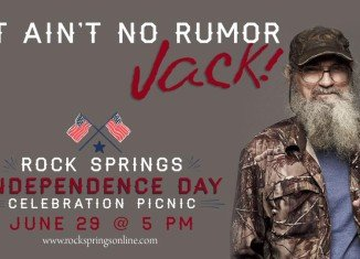 Si Robertson will start the 4th of July celebration early this year with a Rock Springs Church charity picnic in Milner