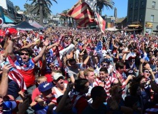 Soccer fans across the US celebrated a last-gasp win against the team's World Cup nemesis, Ghana