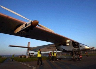 The Solar Impulse 2 vehicle lifted off from Payerne airfield in Switzerland at just after 03.35 GMT, returning two hours later