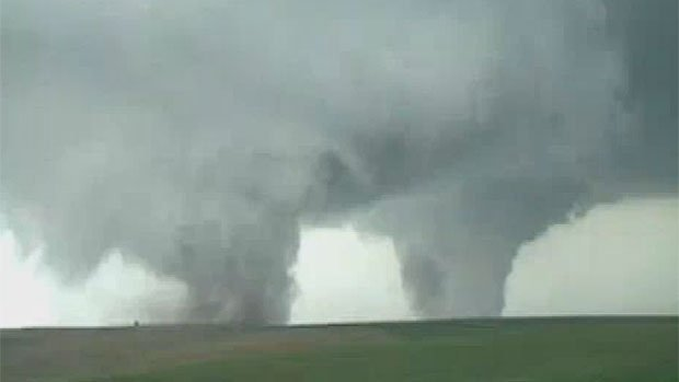 Two massive tornadoes hit the state of Nebraska killing at least one person and leaving at least 19 injured