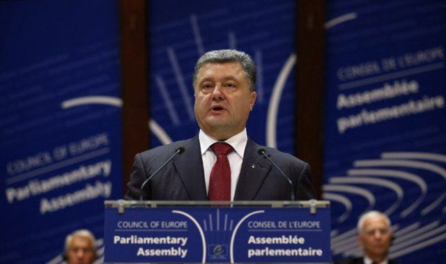 Ukrainian President Petro Poroshenko hailed the signing of the partnership agreement with the EU