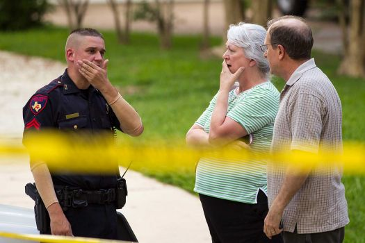 A father is suspected of shooting six dead near Houston