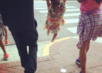 Beyonce posted family photo of her and husband Jay-Z both holding hands with their daughter Blue Ivy on each side