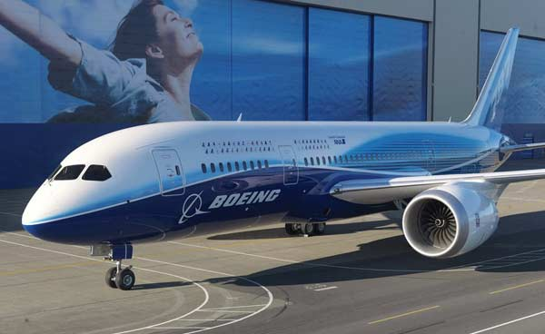 Boeing's earnings from commercial aircraft operations helped to offset a fall in defense profits