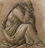Botticelli's Study for a Seated St Joseph, his head resting on his right hand has sold for a record $2.1 million at Sotheby's auction in London