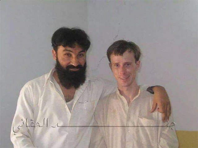 Bowe Bergdahl is shown with Badruddin Haqqani, Taliban commander killed in 2012