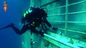 Italian police have released an eight-minute footage with underwater images from within the Costa Concordia wreckage