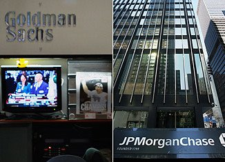 JPMorgan Chase and Goldman Sachs have seen mixed results from their investment businesses