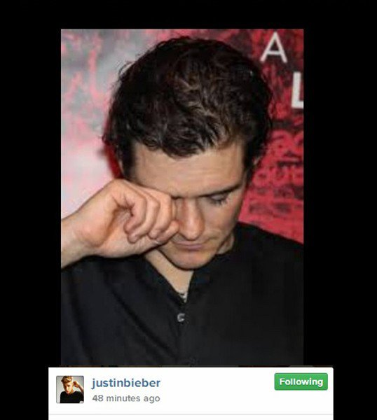 Justin Bieber took to his Instagram to taunt Orlando Bloom after Ibiza incident