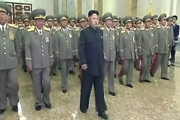 Kim Jong-un has been filmed with a limp as he attended commemorations marking the 20th anniversary of his grandfather Kim-Il-sung's death