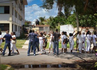 Ladies in White members were detained during a protest march in Cuba