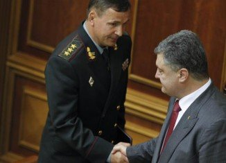 Lt. Gen. Valeriy Heletey was approved by Ukraine's parliament as new defense minister after being recommended by President Petro Poroshenko