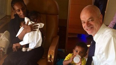 Meriam Yahia Ibrahim Ishag and her family flew on an Italian government plane, accompanied by Italian minister Lapo Pistelli