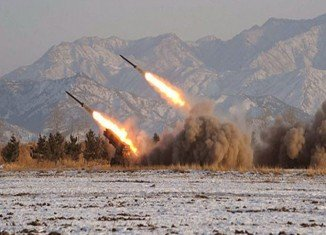 North Korea has fired two suspected short-range missiles into the sea