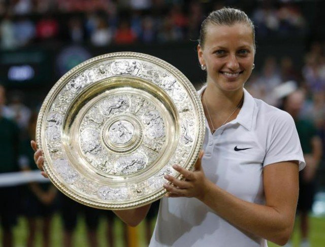 Petra Kvitova has won her second Wimbledon title after defeating Canada's Eugenie Bouchard in this year's final