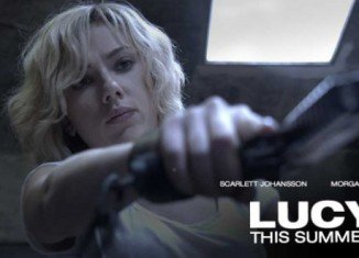Scarlett Johansson's action thriller Lucy has topped the North American box office with $44 million over the weekend