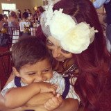 Snooki and her 22-month-old son Lorenzo at her bridal shower