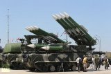 The Buk missile system is a family of self-propelled, medium-range surface-to-air missile systems developed by the Soviet Union