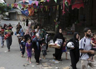 The UN says 83,695 people have now been displaced in Gaza and have taken refuge in 61 shelters