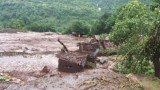 The landslide buried some 40 houses and trapped about 150 people in Malin village