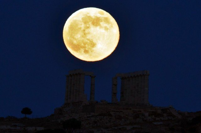 The perigee supermoon is when the moon appears larger and brighter in the sky owing to its elliptical orbit of Earth