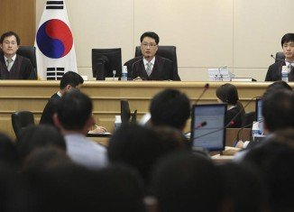 The trial of crew members of the sunken Sewol ferry in South Korea