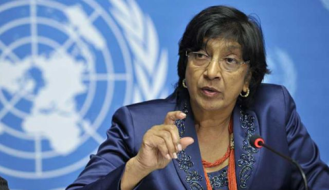 UN High Commissioner for Human Rights Navi Pillay has condemned Israel's military actions in the Gaza Strip