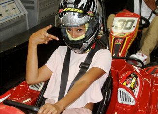 Beyonce posted new pictures of herself, husband Jay-Z and daughter Blue Ivy at a kart racing facility