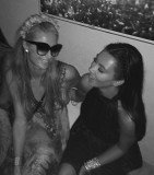 Kim Kardashian and Paris Hilton reunited in Ibiza at designer Riccardo Tisci's birthday party, and appeared to pick up where they'd left off