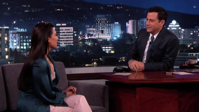 Kim Kardashian shared the unedited highlights of her European wedding on Jimmy Kimmel Live